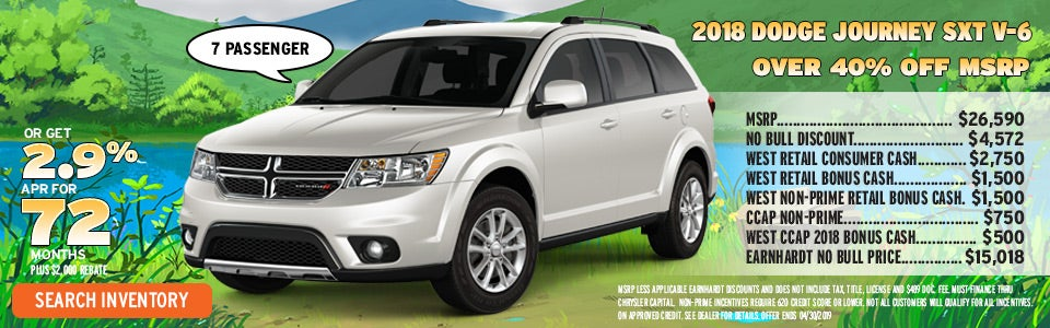 Save Over 40 Off Msrp On A New Dodge Journey In Gilbert